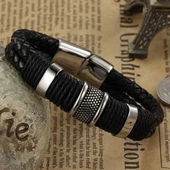 Andante - Genuine Leather Woven Bracelet