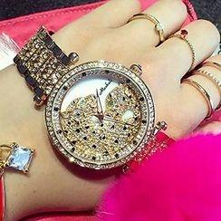 Nanazi Jewelry - Rhinestone Leopard Bracelet Watch