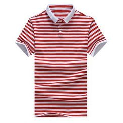 T for TOP - Stripe Polo Shirt