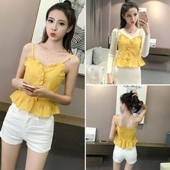 CHIH - Frill Trim Bustier Top