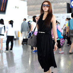 SO Central - Inset Vest Maxi Skirt (Belt Not Included)