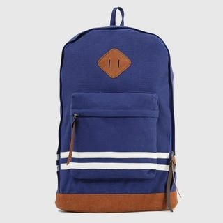 K-Style - Striped-Detail Panel Backpack