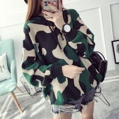 Qimi - Camo Hooded Sweater
