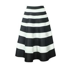 Flore - Striped A-Line Skirt