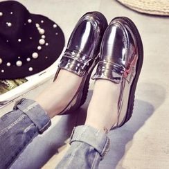 Micha - Metallic Loafers