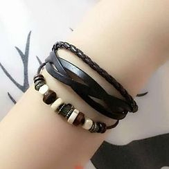 Bling Thing - Layered Faux Leather Bracelet