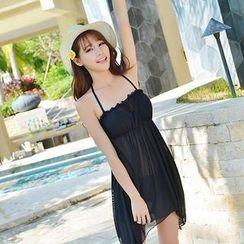 Rachel Swimwear - 套裝: 荷葉邊比基尼 + 臀巾