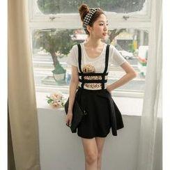 Hanako Shiratori - Suspender A-Line Skirt