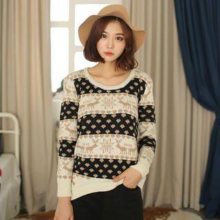 Envy Look - Nordic-Pattern Sweater