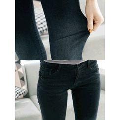 LOLOten - Brushed-Fleece Lined Skinny Jeans