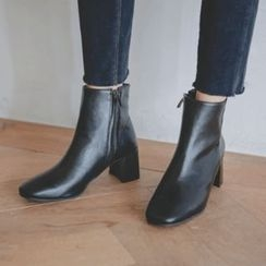 JUSTONE - Chunky-Heel Ankle Boots