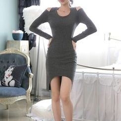Clospace - Cold Shoulder Bodycon Dress