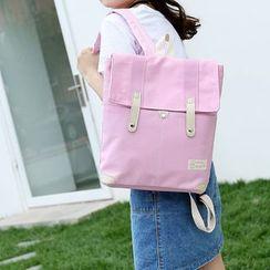 Seok - 翻盖帆布背包