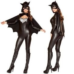 Cosgirl - Halloween Bat Faux Leather Party Costume