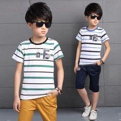 Pegasus - Kids Set: Striped Short Sleeve T-Shirt + Shorts