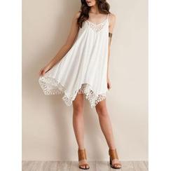 joELLE - Lace Panel Chiffon Strappy Dress