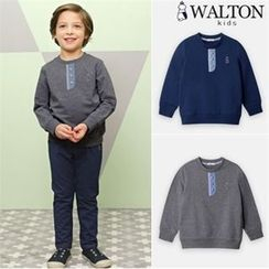 WALTON kids - Boys Buttoned-Detail Sweatshirt