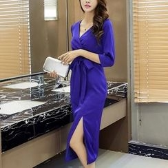 Aurora - Tie-Waist Maxi Dress