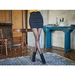 UUZONE - High-Waist Miniskirt