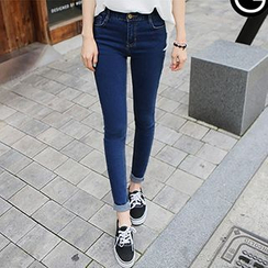 blue babe - High-Waist Skinny Jeans