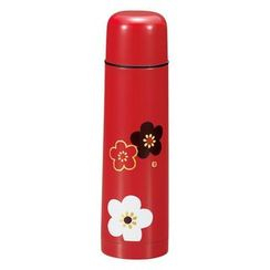 Hakoya - Hakoya Stainless Mug Bottle with Cup Hanamonyou Ume Red