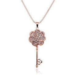 Glitglow - Rose Key Pendant