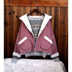 tete - Fleece-Lined Corduroy Button Jacket
