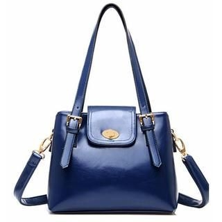 19th Street - Twist-Lock Buckled Shoulder Bag