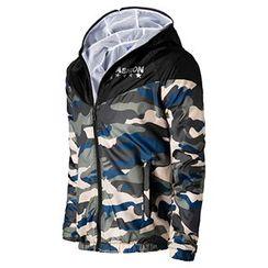 Fireon - Camouflage Hooded Windbreaker