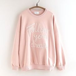 11.STREET - Lettering Embroidered Sweatshirt