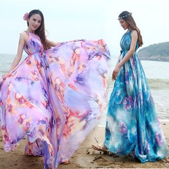 Lovi - Sleeveless Floral Maxi Dress