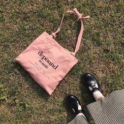 TangTangBags - Canvas Lettering Shopper Bag