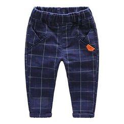 Kido - 小童格纹裤