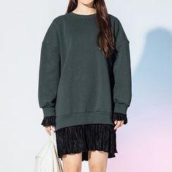 Heynew - Mock Two-Piece Pullover Dress