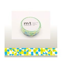 mt - mt Masking Tape : mt 1P Cricle Triangle & Square (Blue)