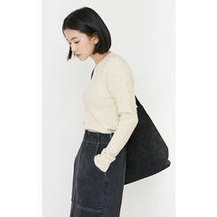 Someday, if - Round-Neck Rib-Knit Top