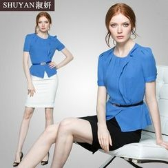 Aision - Set of 2 / Short-Sleeve Blouse / Skirt