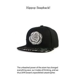 Ohkkage - Rose Embroidered Baseball Cap