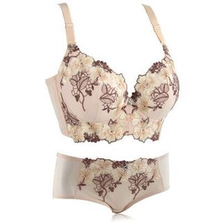 JVL - Floral & Leaf Embroidered Bra