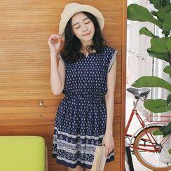 Tokyo Fashion - Cap-Sleeve Patterned Dress