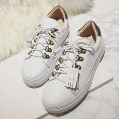 SouthBay Shoes - Fringed Sneakers