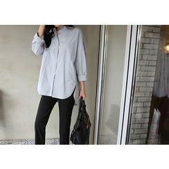 Hello sweety - Pocket-Front Dip-Back Shirt