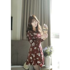 MyFiona - Flower Patterned A-Line Mini Dress