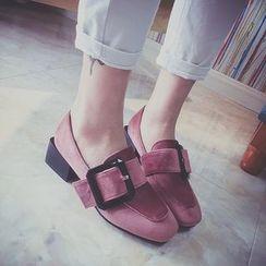 Abliz - 粗跟乐福鞋
