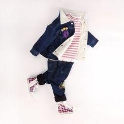Rakkaus - Kids Fleece-Lined Buttoned Denim Jacket