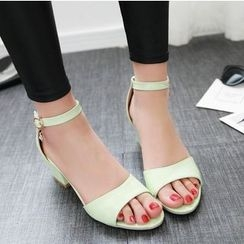 TULASI - Ankle Strap Block Heel Sandals