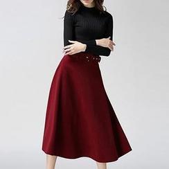 Hazie - A-Line Midi Skirt