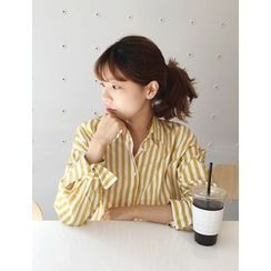 FROMBEGINNING - Loose-Fit Striped Shirt