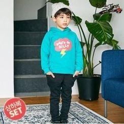 BILLY JEAN - Kids Set: Hooded Brushed Fleece Lined Pullover + Harem Pants