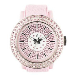t. watch - Diamond Lens Glass Pink Strap Watch